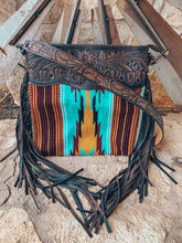 The Ole Mattie Saddle Blanket Bag (Turquoise & Yellow)