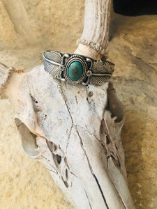 Macy Feather Turquoise Stone Bracelet