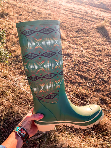 Pendleton Tall Diamond River Trail Rain Boot (Green)