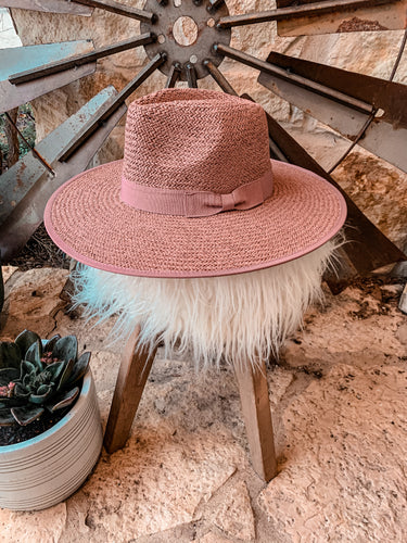 The Hackberry Straw Hat (Rose)