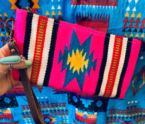 The Ole Little Bill Saddle Blanket Wristlet (Pink)