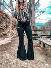 The Sabinal Distressed Bell Bottoms (Black)