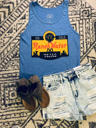 Ranch Water Tank Top (Blue)