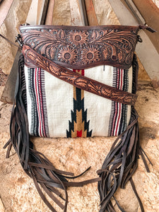 The Doc Holiday Saddle Blanket Purse (White)