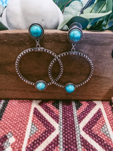 The Emille Turquoise Hoop Earrings