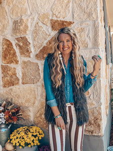The Wilcoe Faux Feather Vest
