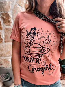 Cosmic Cowgirl Tee (Peach)