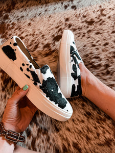 The Clyde Cow Print Shoes