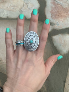 The Riviera Round Turquoise Ring