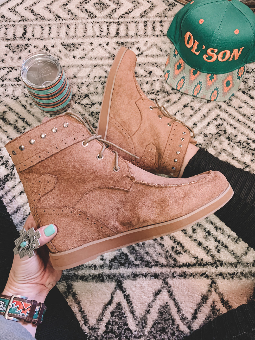 The Nevada Wedge Booties (Camel)