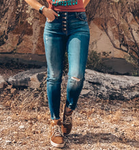 The Fairlie Distressed Skinny Jeans (Dark Wash)