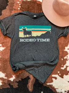 Dale Brisby Rodeo Time Sunset Tee (Black)