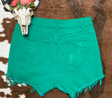 Lucky Lady Denim shorts (Green)