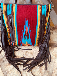 The Billy Clinton Saddle Blanket Purse (Multi)