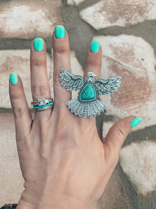 The Turquoise Thunderbird Ring