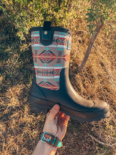 Pendleton Classic Basketmaker Rain Boot (Brown)