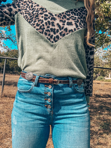 The Blanche Concho Belt (Brown)