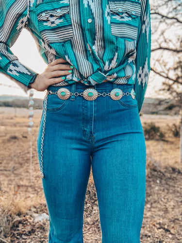 The Winedale Turquoise Chain Belt
