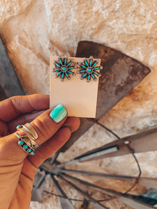 The Gallup Round Turquoise Earrings
