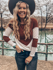 The Camilla Long Sleeve Top (Rust)