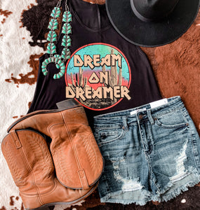Dream On Dreamer Crop Top (Black)