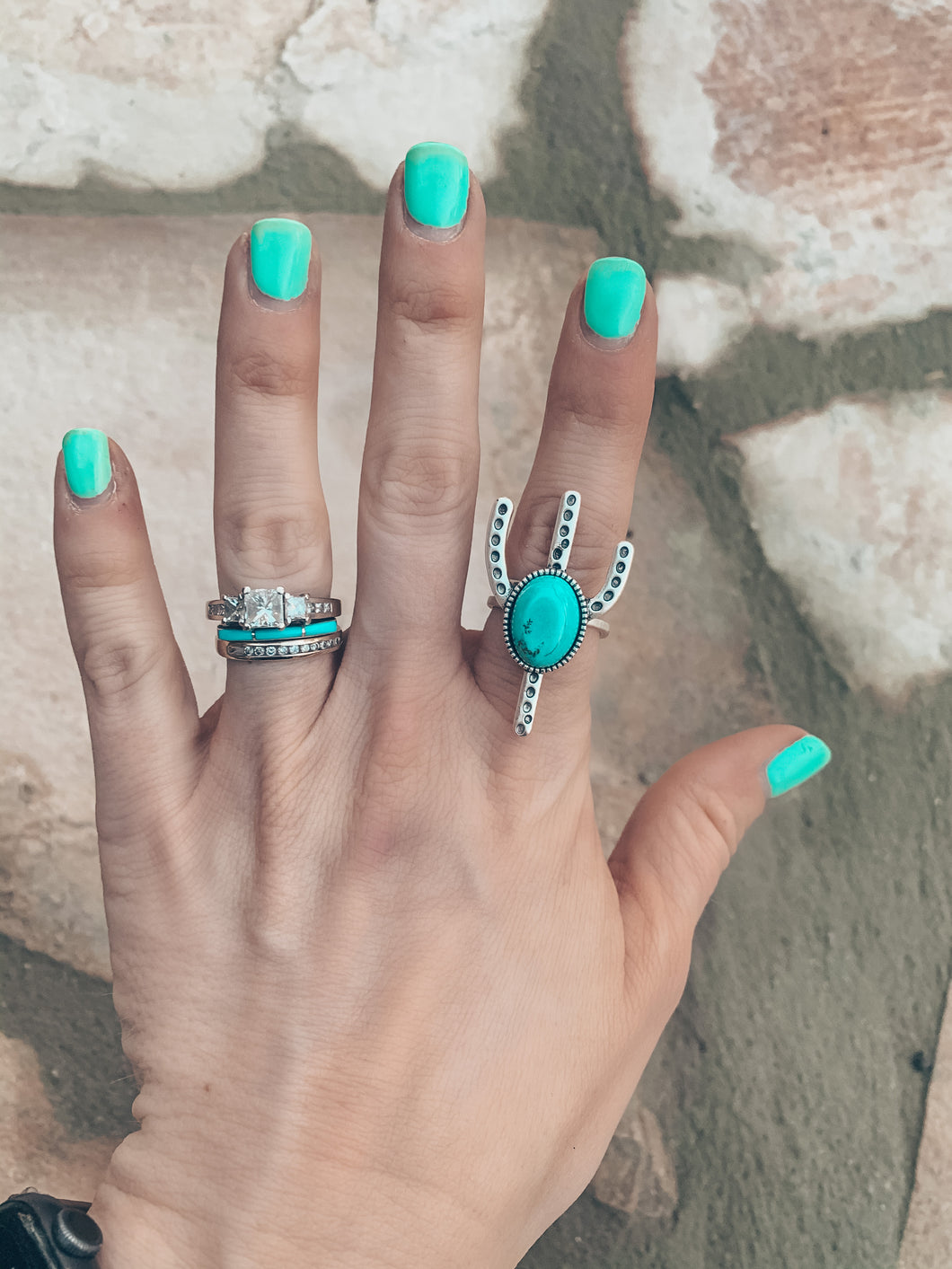The Turquoise Cactus Ring
