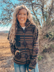 The Jacksboro Aztec Jacket (Olive)