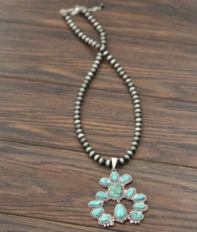 Denton Naja Squash Blossom Necklace