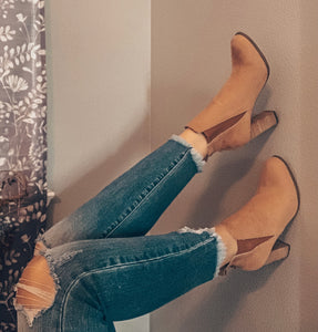 The Roby Suede Booties (Tan)