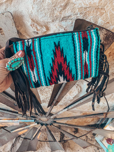 The Wylie Wristlet (Turquoise & Red)
