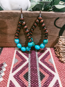 The Eliza Turquoise Earrings (Brown)