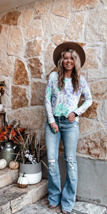 The Texana Tie Dye Long Sleeve