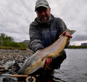 Streamer Fishing and River Rafting for Big Brown Trout