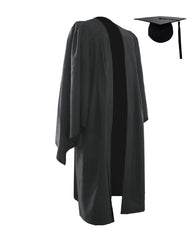 Classic Black Bachelors Graduation Cap & Gown - Graduation UK