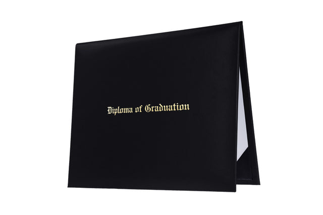 Black Imprinted High School Diploma Cover - Graduation UK