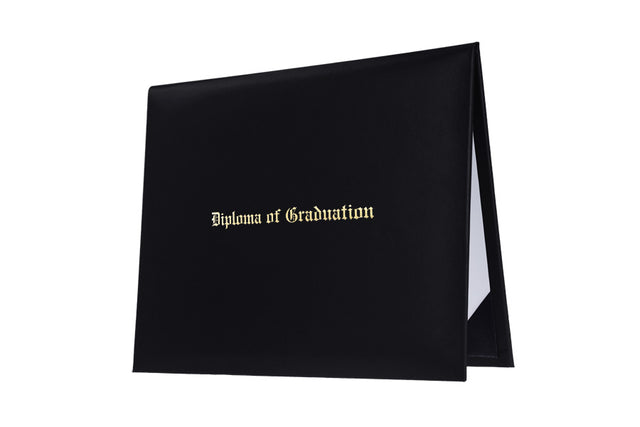 Black Imprinted Childs Nursery Preschool Diploma Cover - Graduation UK