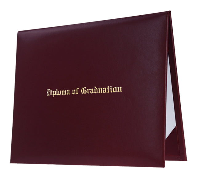 Maroon Imprinted Graduation Diploma Cover - Graduation UK