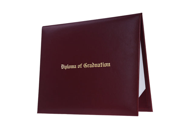 Maroon Imprinted High School Diploma Cover - Graduation UK