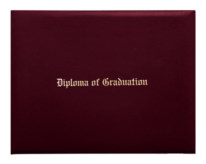 Maroon Imprinted Primary / Secondary Diploma Cover - Graduation UK