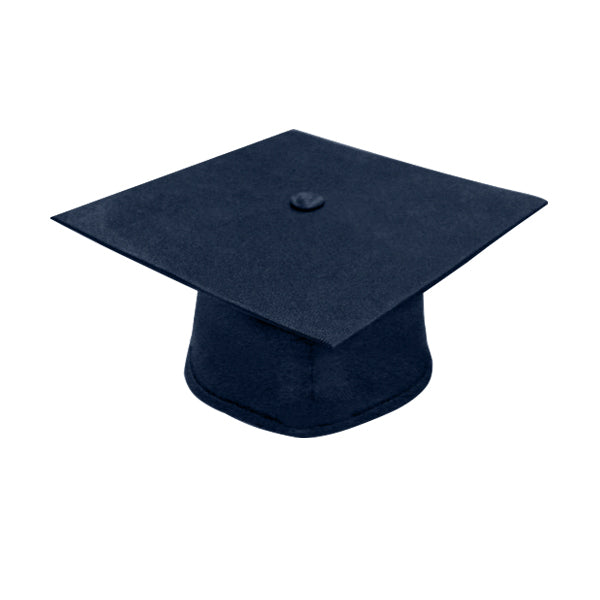 Navy Blue High School Cap - Graduation UK
