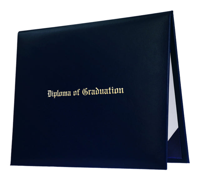 Navy Blue Imprinted University Diploma Cover - Graduation UK