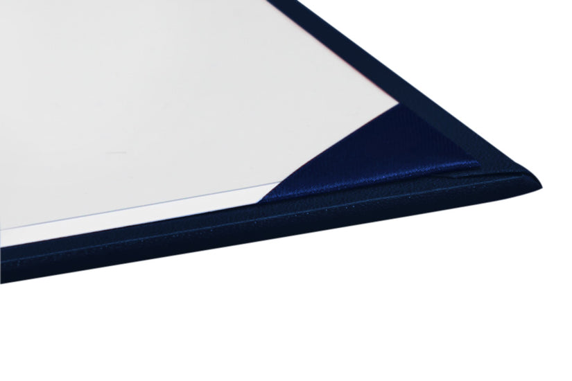 Navy Blue Imprinted Graduation Diploma Cover - Graduation UK