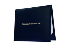 Navy Blue Imprinted High School Diploma Cover - Graduation UK