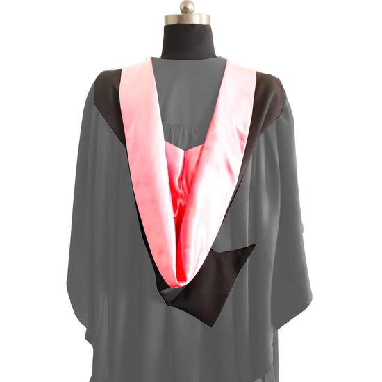 Bachelors Shape Burgon Academic Hood - Pink & Black