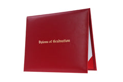 Red Imprinted High School Diploma Cover - Graduation UK