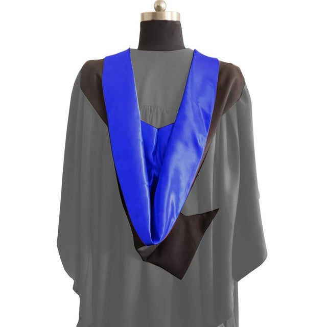 Bachelors Shape Burgon Academic Hood - Royal Blue & Black