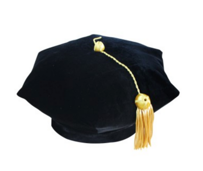 American 6 Sided Doctoral Tam - Academic Reglia - Graduation UK
