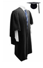 Deluxe Black Bachelors Graduation Cap & Gown - Graduation UK