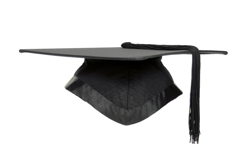 Fitted University Mortarboard Graduation Cap