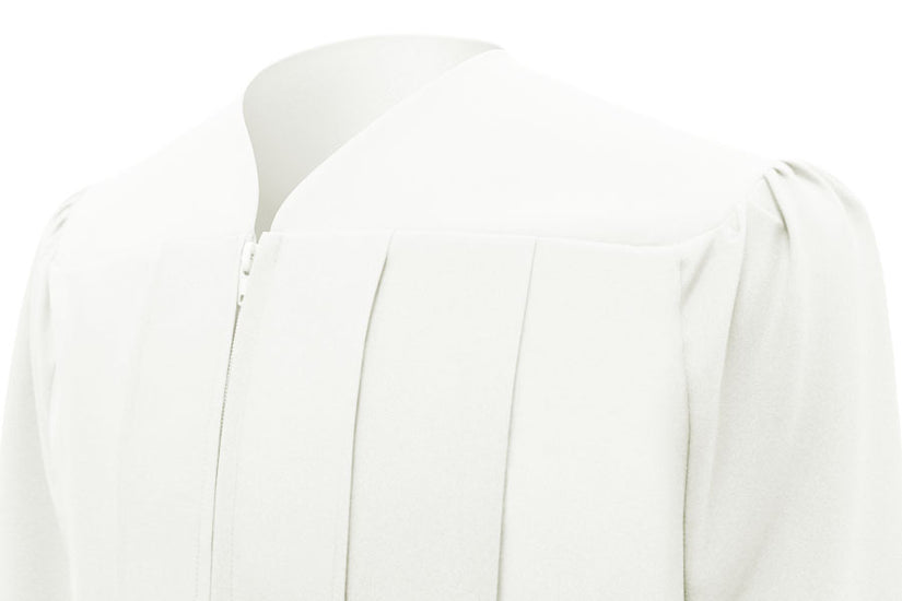 White High School Graduation Gown - Graduation UK